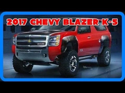 New 2018 Chevy Blazer K 5 Release date and Specs