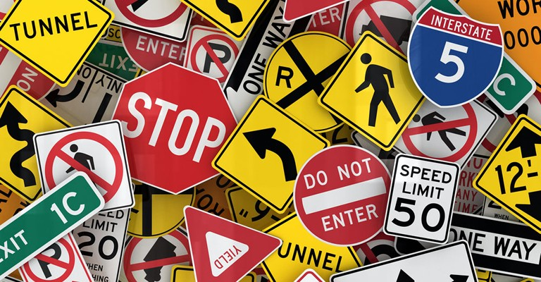 The traffic rules where you currently are